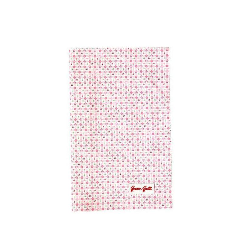 Paño de cocina grande de tela Mimi Pale Pink Green Gate