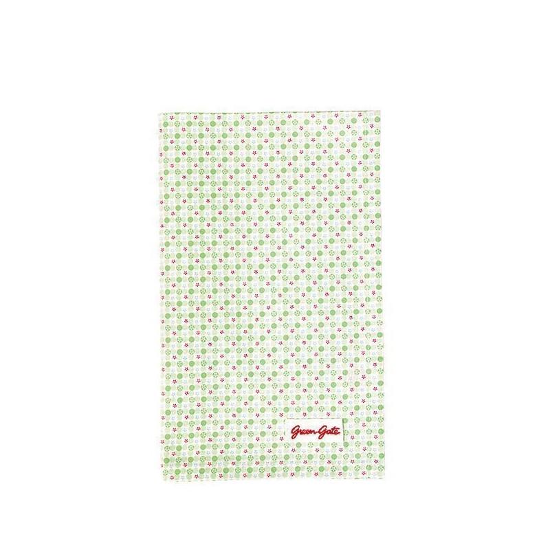 Paño de cocina grande de tela Mimi Pale Green Green Gate