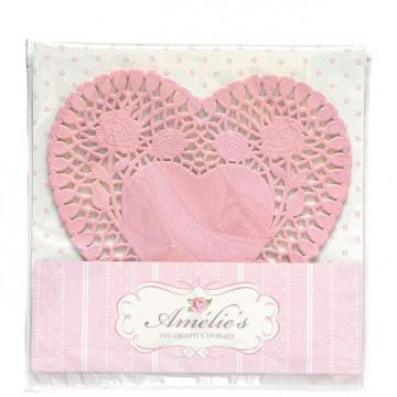 Tapetes de papel corazón pack 24 unidades Amelie Green Gate