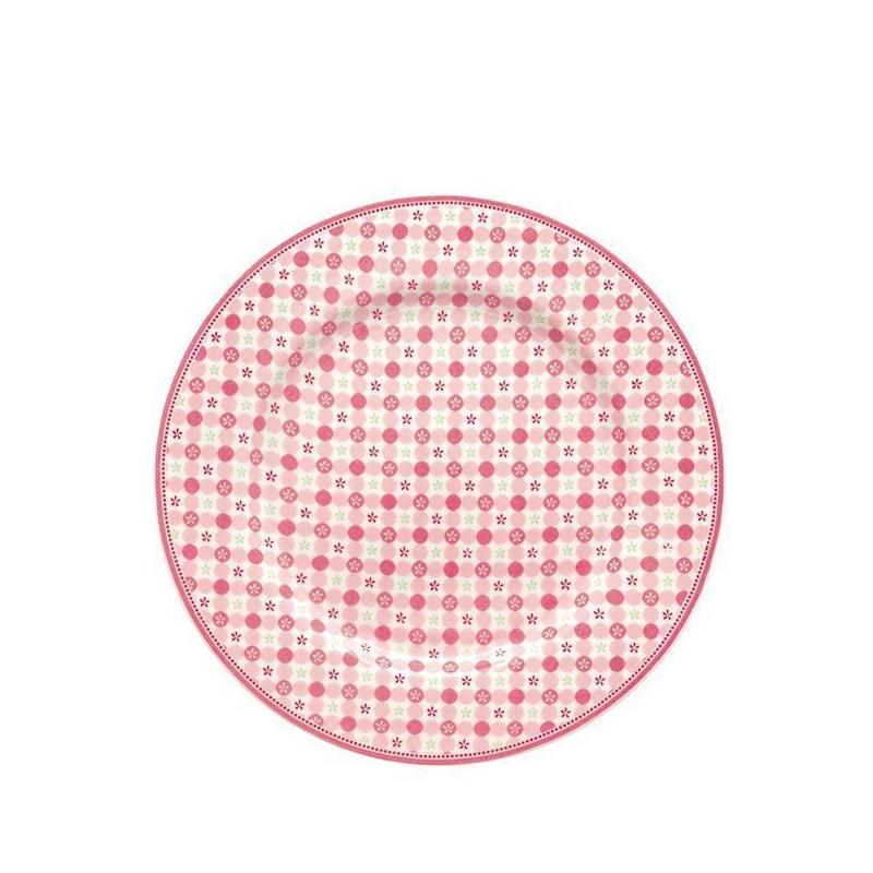 Plato de cerámica postre Mimi Pink Green Gate