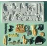 Molde silicona Motivos Musica Alphabet Mould