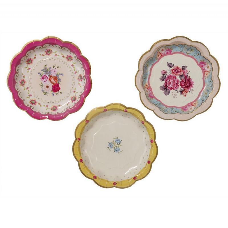 Platos fiesta Flores Vintage Campestre