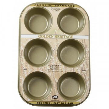 Molde cupcakes 6 cavidades Golden Heritage
