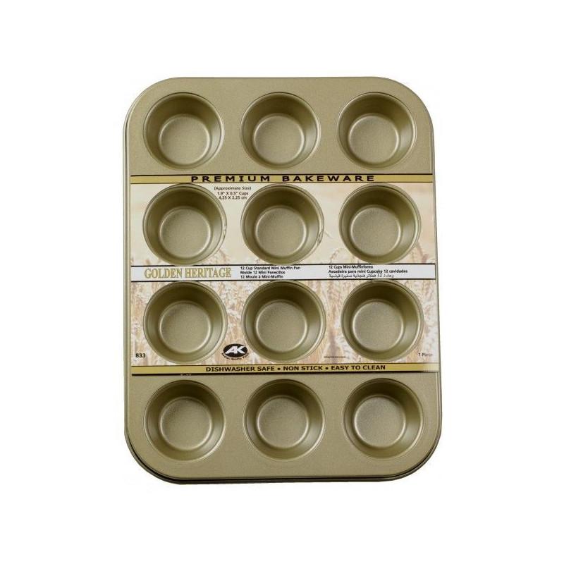 Molde mini cupcakes 12 cavidades Golden Heritage