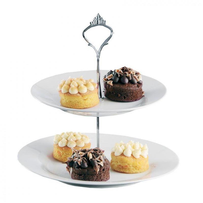 Stand de presentación cupcakes 2 alturas BLANCO Mason Cash