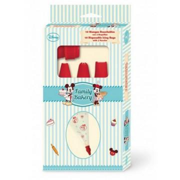 Set decoración Manga + boquillas Mickey Mouse Family Bakery Disney