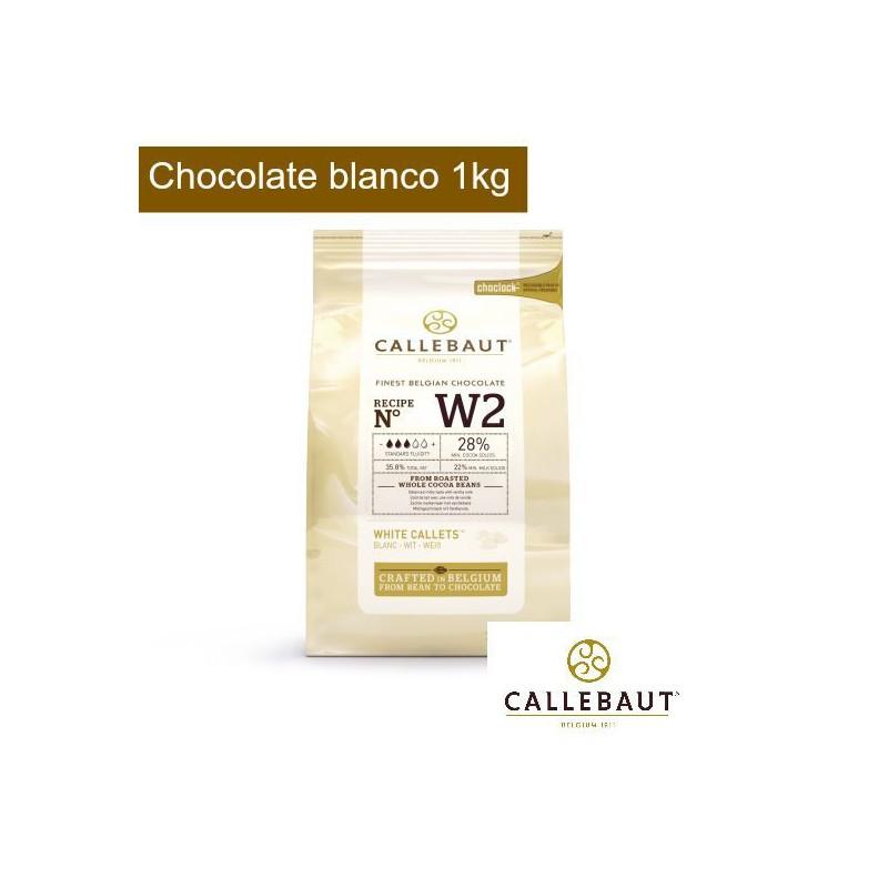 Chocolate blanco en grageas 1kg Callebaut