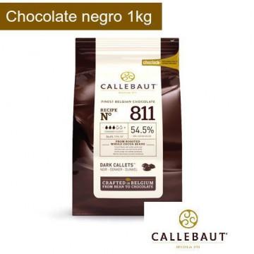 Chocolate negro 54,5% en grageas 1kg Callebaut