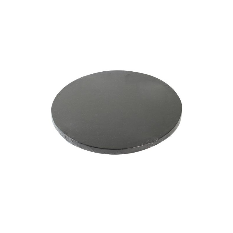 Bandeja presentación redonda color negro 30 cm