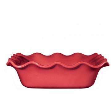 Molde cuadrado de ceramica Ondulado Rojo Émily Henry