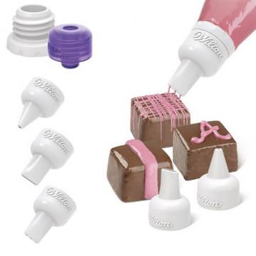 Set boquillas decoración para candy melts Wilton