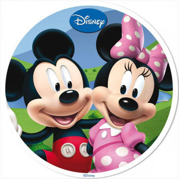 Oblea comestible Minnie y Mickey Mouse Amor 1