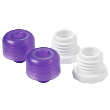 Kit de Tapón y Adaptador de boquilla para candy melts Wilton, 4 u.