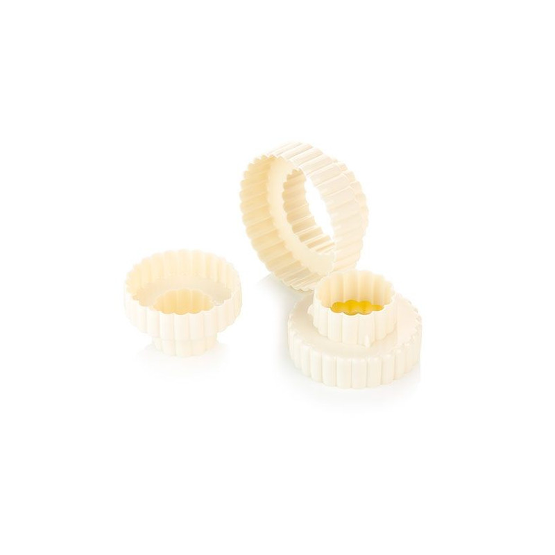 Cortante pack 6 cortantes doble circulo rizado Tescoma
