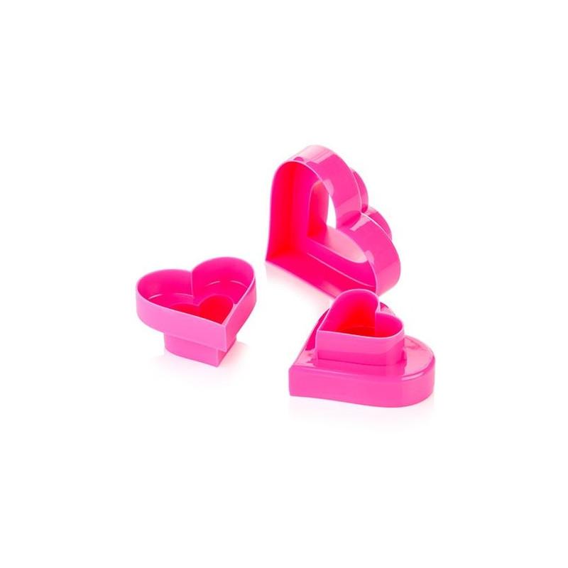 Cortante pack 6 cortantes doble Corazón Tescoma