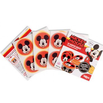 Obleas Cupcakes pack 12 Mickey Mouse