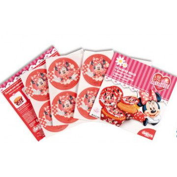 Obleas Cupcakes pack 12 Minnie Mouse