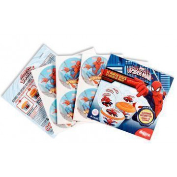 Obleas Cupcakes pack 12 Spiderman