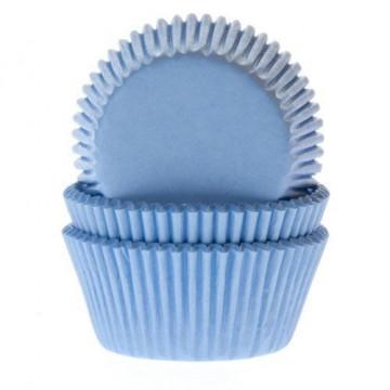 Capsulas mini cupcakes azul cielo HoM