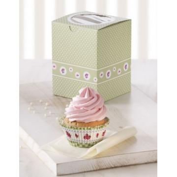 Cajas pack 2 cajas individuales cupcakes Garden Birkmann