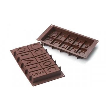 Molde Silicona para chocolate I Love Chocolat SLK