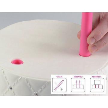 Pack 5 pilares 30 cm básicos para montar tartas SLK