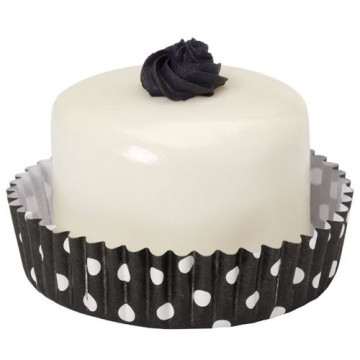 Cápsulas para dulces lunares blanco/negro Wilton