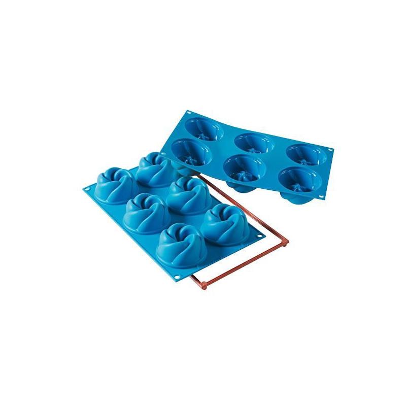 Molde 6 cavidades Vertigo Silicona SLK