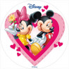 Oblea comestible Minnie y Mickey Mouse San Valentín 2