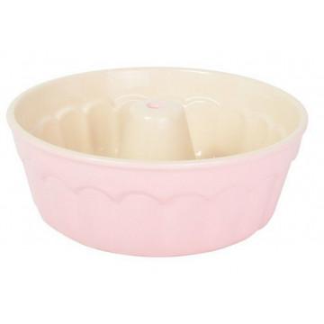 Molde bizcocho redondo cerámica Rosa