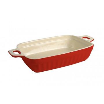 Molde rectangular de cerámica 30 cm Rojo