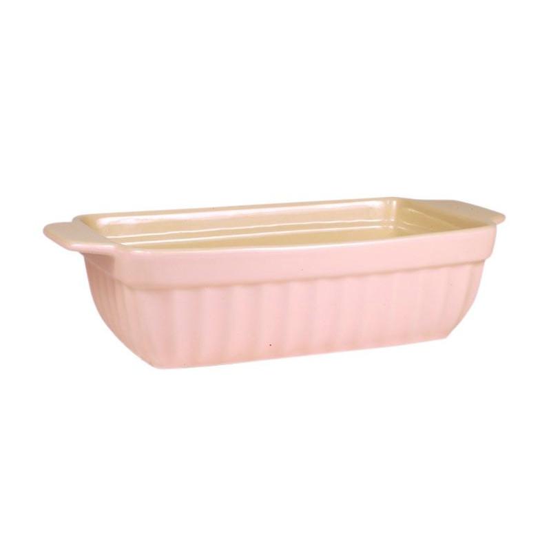 Molde rectangular alargado de cerámica Rosa