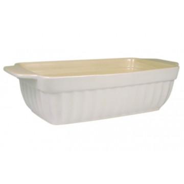 Molde rectangular alargado de cerámica Blanco
