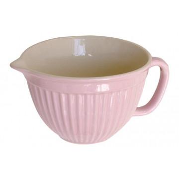 Bol de cerámica con asa Rosa Iblaursen