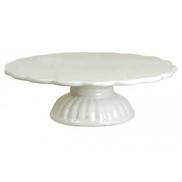 Cake Stand de Cerámica Blanco Iblaursen