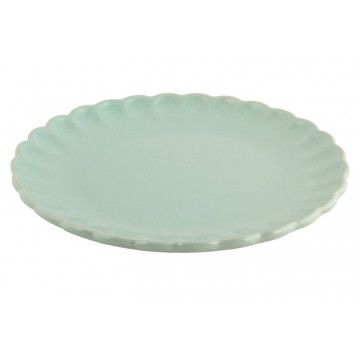 Plato de cerámica postre Verde Menta