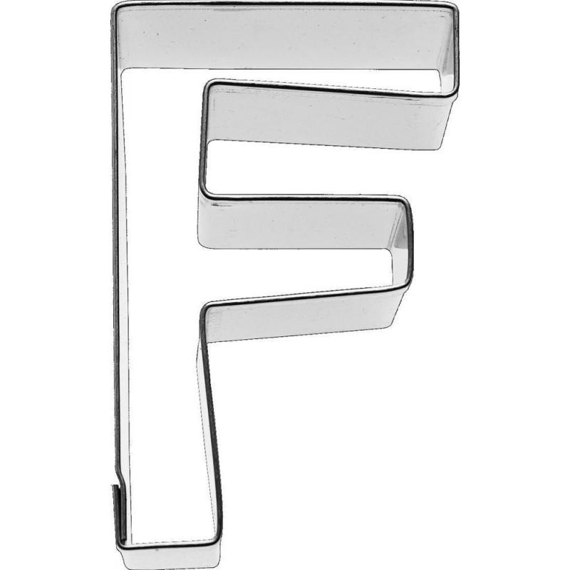 Cortante galleta letra F