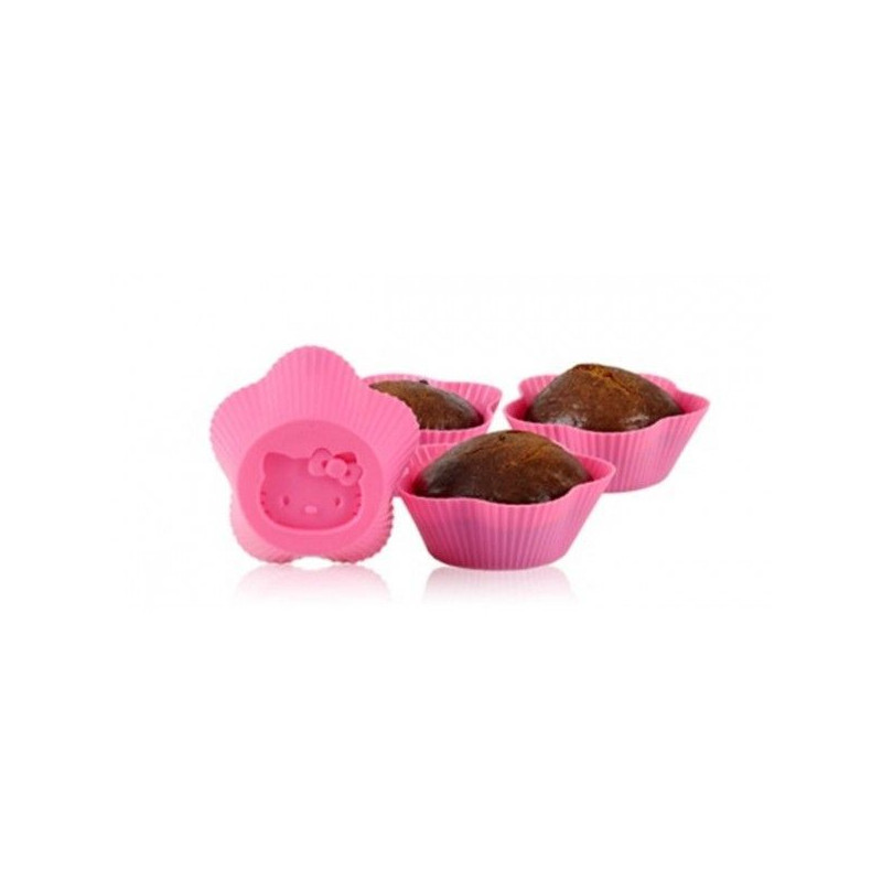 Pack 6 moldes de silicona para cupcakes Hello Kitty