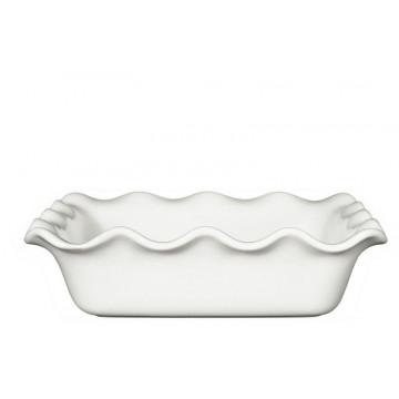 Molde cuadrado de ceramica Ondulado Blanco Émily Henry