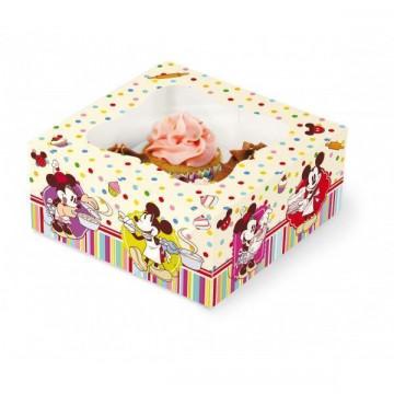Caja 4 cupcakes + interior Family Bakery Disney