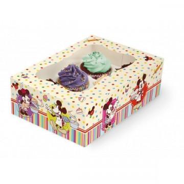 Caja 6 cupcakes + interior Family Bakery Disney