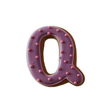 Cortante galleta letra Q