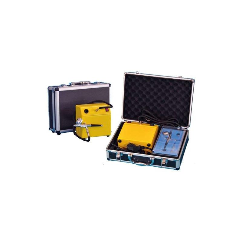 Kit aerografía repostería:  Aerógrafo + compresor