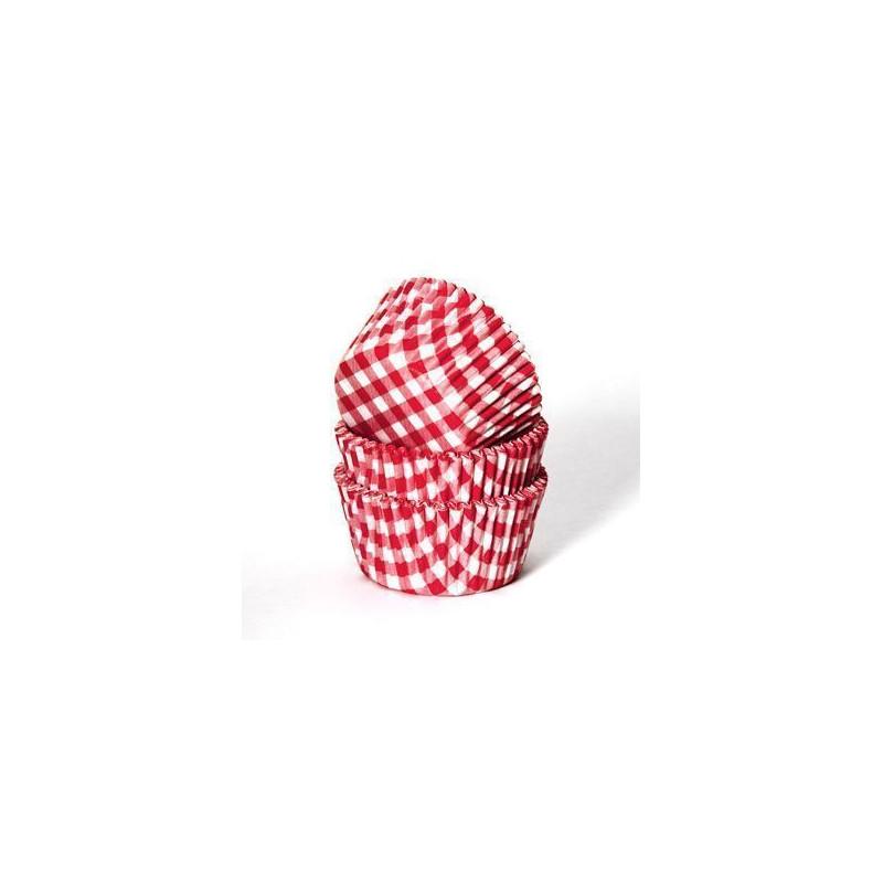 Cápsulas cupcakes de cuadritos vichy rojo House of Marie.