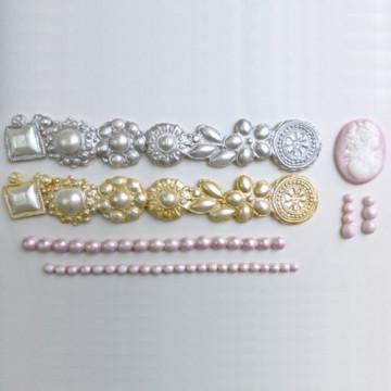 Molde silicona Borde de Camafeo, broches y perlas Karen Davies
