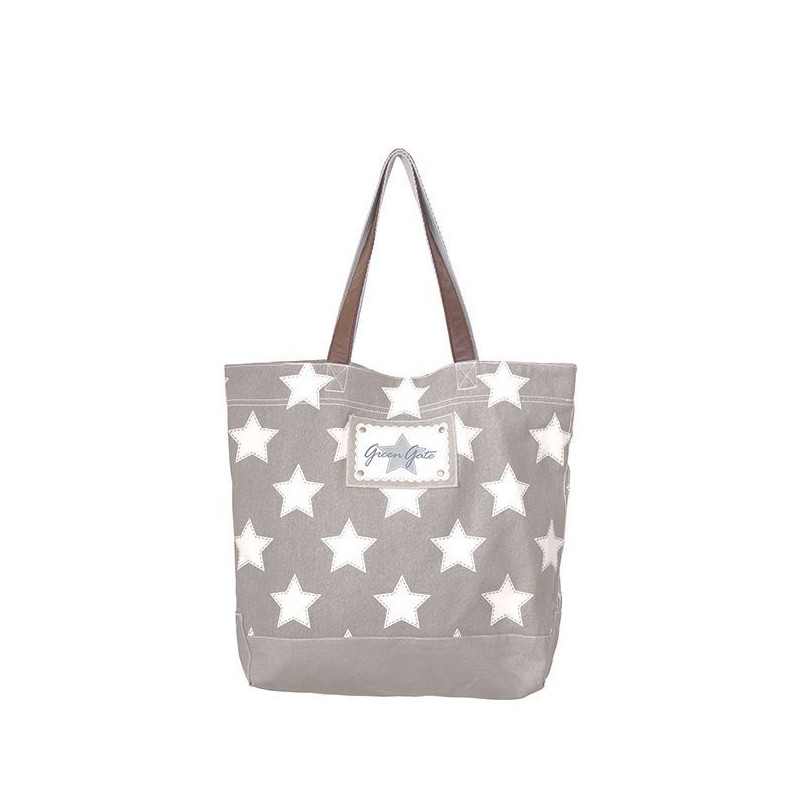 Bolso de Tela Star Grey Green Gate