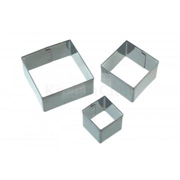 Cortante pack 3 cortantes cuadrados Kitchen Craft