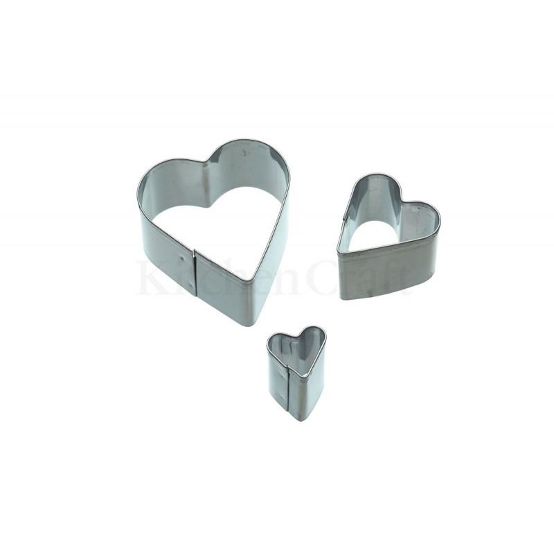 Cortante pack 3 cortantes corazón KC