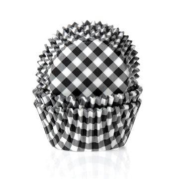 Capsulas cupcakes Cuadritos Vichy Negro HoM