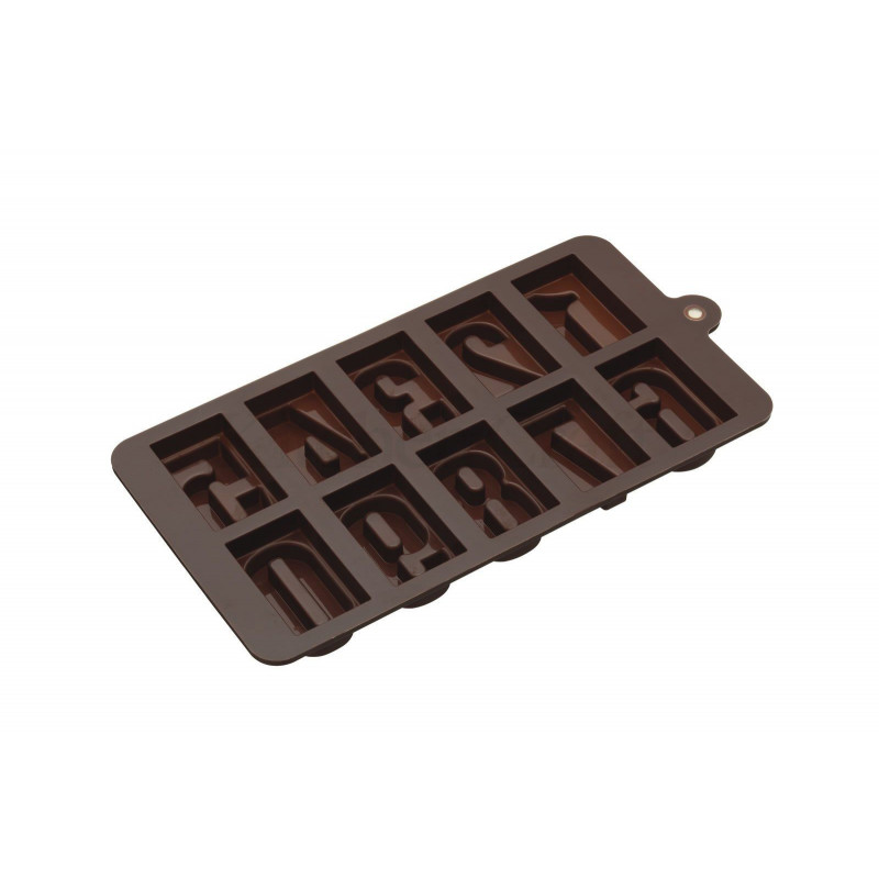 Molde para bombones Tabletas-Números KC